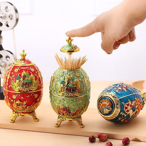 Nordic automatic push-type toothpick box household creative toothpick holder hotel restaurant fashion high-end toothpick holder