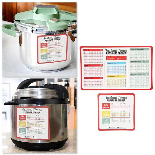 2/3/4Pcs /Set Pressure Cooker Cooking Time Stickers Decoration Accessories Folding Stove Magnetic Cheat Sheet