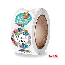 500pcs flower Sticker Thank You Sticker Seal Labels round Reward scrapbooking for School Teacher Cute Stationery Supplies
