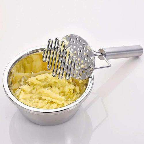 Stainless Steel Kitchen Gadgets Potato Masher High Pressure Cooking Tools Mashed Potatoes Wave Press Rice Kitchen Accessories