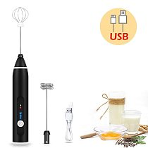 USB Electric Egg Whisk Automatic Handhold Foam Coffee Maker Egg Beater Cappuccino Frother Portable Kitchen Milk Cream Tool