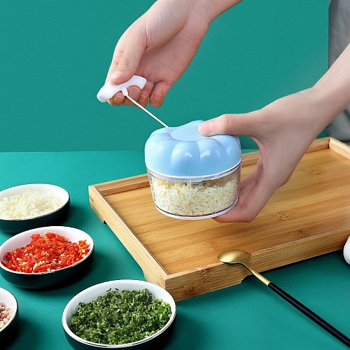 Household Garlic Crusher Hand-Pulled Garlic Triturator Manual Mashed Garlic Small Garlic Press Pull Garlic Cut Minced Garlic