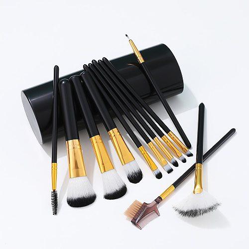 Makeup Brushes Wholesale 12pcs / lot Make Up Brush Set Eyebrow Eyeshadow Brochas Maquillaje
