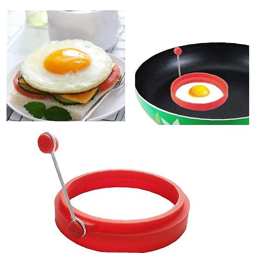 Egg Ring Silicone Egg Pancake Mold Practical Egg Ring for Cooking Kitchen Utensils, 4 Pieces