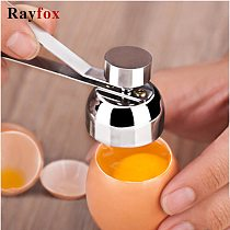 Kitchen Gadgets Accessories Stainless Steel Egg Topper Cutter Metal Egg Scissors Boiled Raw Egg Opener Creative Kitchen Tool Set