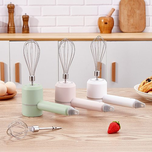 Mini Cordless Electric Egg Beater HandHeld USB Rechargeable Food Blender Milk Frother 3 Speed Cream Food Cake Mixer