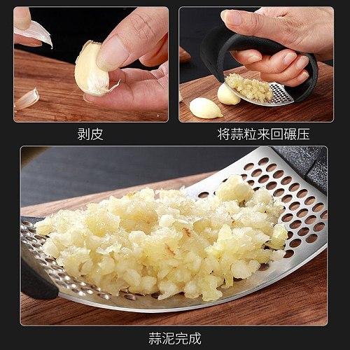 Household Stainless Steel Manual Garlic Press Press Squeezer Garlic Tools Kitchen Accessories