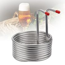 Easy Clean Wine Making Machine Restaurant Tool Wort Chiller Pipe Kitchen Supplies Stainless Steel Beer Cooling Coil Home Brewing