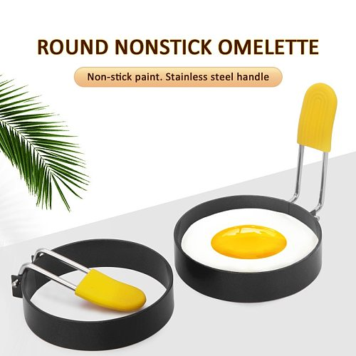 1pcs Fried Egg Shaper Stainless Steel Fried Egg Shaper Pancake Ring Circle Mold Round Shape Kitchen Fried Egg Tools Accessories