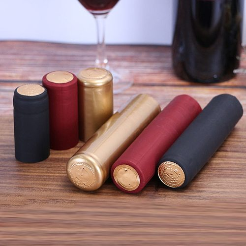 50pcs Pro Wine Bottle Heat Shrink Capsules Plastic Caps Bottle Shrink Film For Home DIY Brewing Wine Making Accessories Tool