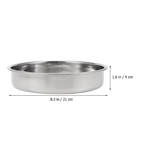1 Pc  Stainless Steel Steaming Basket Food Steamer Hollow Hole Steaming Rack Steamed Buns Plate For Hotel Restaurant Home 21cm