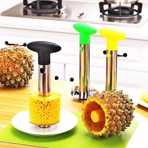 Stainless steel pineapple peeler Fruit Knife Cutter Accessories Fruit peeling machine Kitchen gadget spiralizer avocado slicer