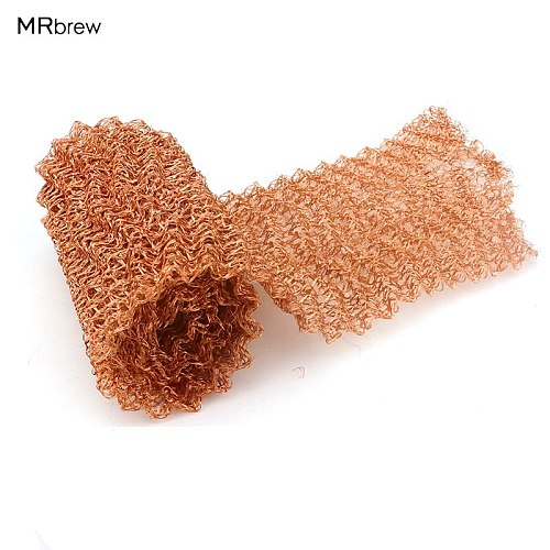 0-5 Meter 4 Wires Pure Copper Mesh Woven Filter Sanitary Food Grade For Distillation Moonshine Home Brew Beer 100mm Width