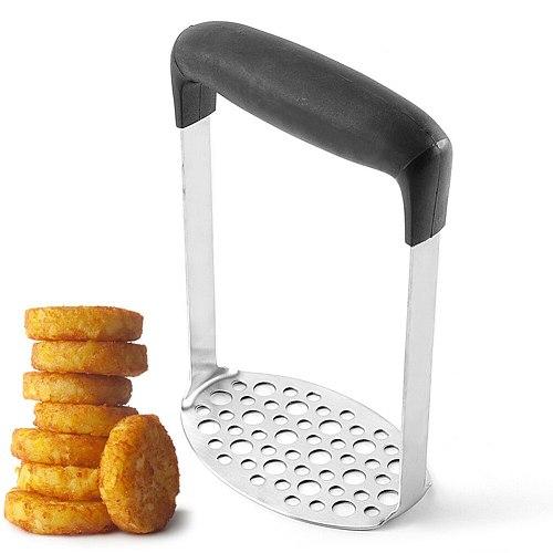 Potato Masher Ricer Puree Pressed Fruit Juice Maker Stainless Steel Potato Pusher Smooth Mashed Crusher Tools