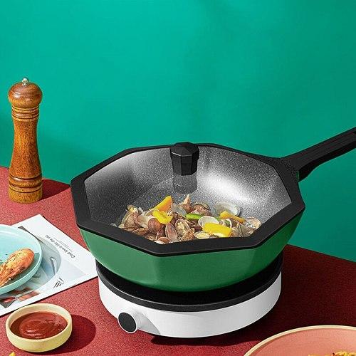 Harold Maifanshi non-stick cookware frying pan household frying pan octagonal Germany  pan gas stove induction cooker