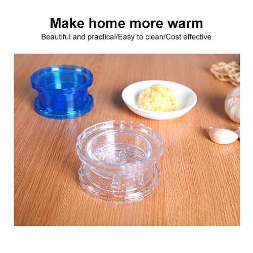 1pc Hand Garlic Press Manual Mashed Garlic Manually Processor Food Chopper Fruit Slicer Twist Prevent Tears Kitchen Accessories
