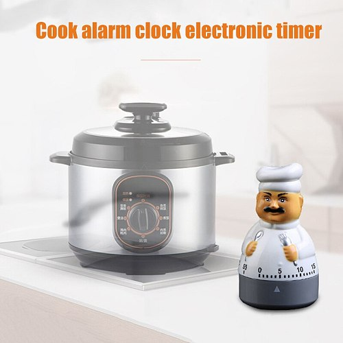Creatives Kitchen Timer Cute Chef Alarm Clock Electronic Timer For Kitchen LKS99