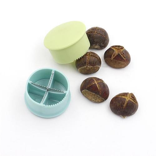 1pc New Chestnut Cross Open Knife Home Sheller Walnut Pliers Plastic Nut Cracker Sheller Nut Opener Kitchen Tools Cutter Gadgets