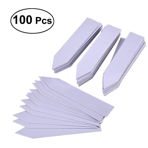 100pcs 15*2cm Plant Garden Labels Markers Garden Stake Tags Plant Pot Markers Garden Supplies (White)