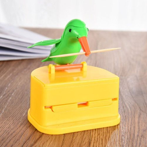 Creative Hummingbird Toothpick Dispenser Gag toothpick holder High Quality Cleaning Teeth Automatic Bird Toothpick Storage Box
