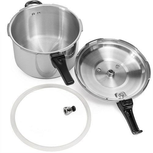 5/7L Large Capacity Pressure Cooker Aluminum Alloy Kitchen Cookware Gas Stove Fast Cooking Foods Camping Tourism Supplies
