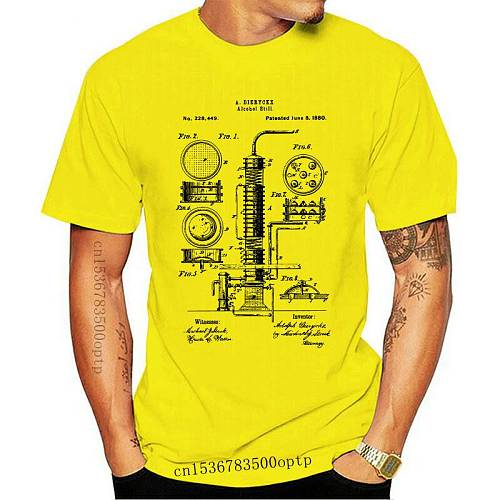 Alcohol Still Liquor Distiller Patent T-Shirt 100% Cotton 2019 New Fashion Funny Men Hot Sale Tops Cool T Shirts