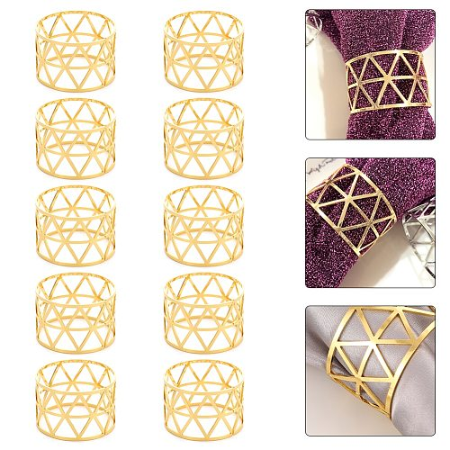 10X Alloy Napkin Rings Wedding Napkin Rings Decoration Ring Table Decoration Accessories For Dinner Table Napkin Party Supplies