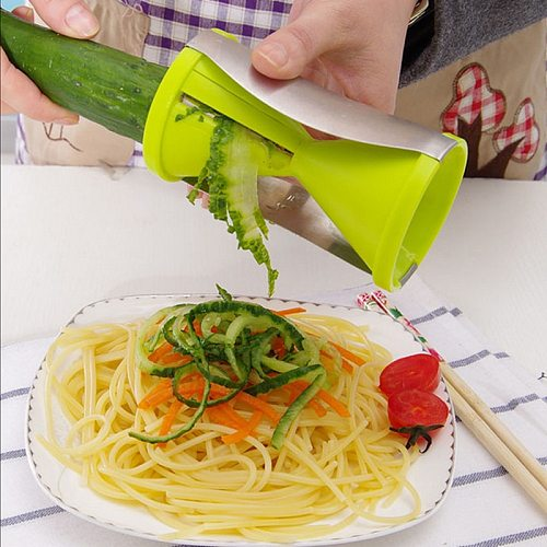 Vegetable Spiral Slicer 2-IN-1 Veggie Cutter Zucchini Noodle Pasta Maker for Healthy Spaghetti Zoodles  Kitchen tools gadget
