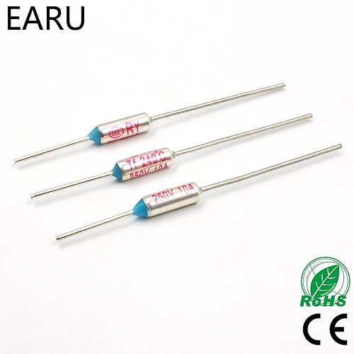 20Pcs TF 240 Celsius Degrees TF-240 Temperature Circuit Cut Off Thermal Fuse 250V 10A Eletric Rice Cooker Microwave Oven Refrige