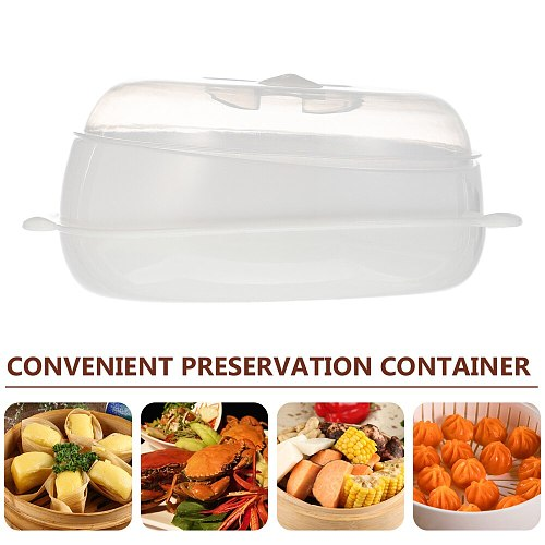 1Pc Round Food Steamer Microwave Oven Steamer Kitchen Gadget with Lid