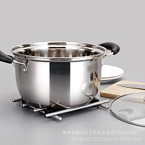 1pcs  Double Bottom Pot Soup Pot Nonmagnetic Cooking Pot Multi-purpose Cookware Non-stick Pan