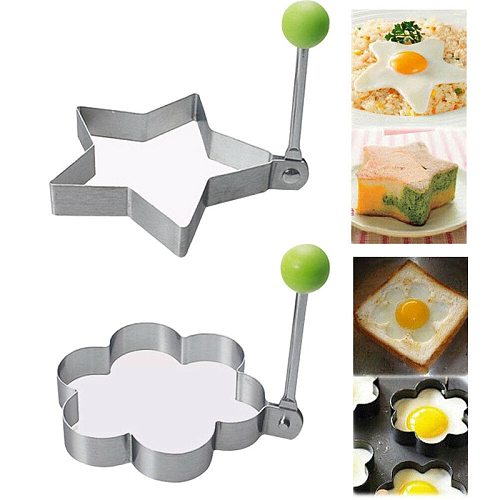 4 Style Fried Egg Mold Stainless Steel Pancake Mould Omelette Mold Fried Egg Pancake Ring Tools Kitchen Accessories Gadget 2