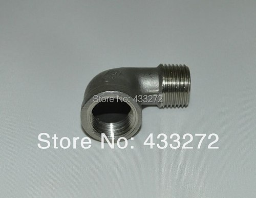 Homebrew Hardware,  304 90 BSP Degree Elbow - 1/2 FPT x 1/2 MPT , Home brew Hardware, Pump fitting