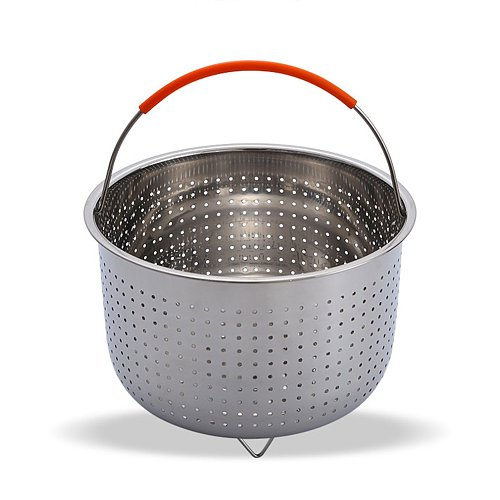 Stainless Steel Kitchen Steam Basket Anti-scald Steamer Pressure Cooker Multi-Function Fruit Cleaning Basket Cookeo Accessories