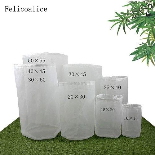 Felicoalice 1pcs A Type Fine Mesh Food Grade Home Brew Hop Filter Bag Nylon Mesh Tea Soup Filter Bag Wine