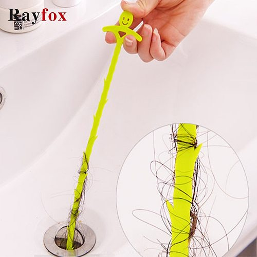 Kitchen Accessories Sewer Cleaning Plastic Hook Home Pipeline Drain Dredge Device Bathroom Toilet Tool Sewer Clog Cleaning Brush