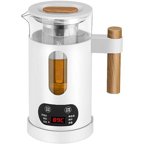 600ml Mini Travel Multi-function Electric Kettle Health Preserving Pot Glass Boiled Tea Pot Hot Water Bottle Warm Kettle
