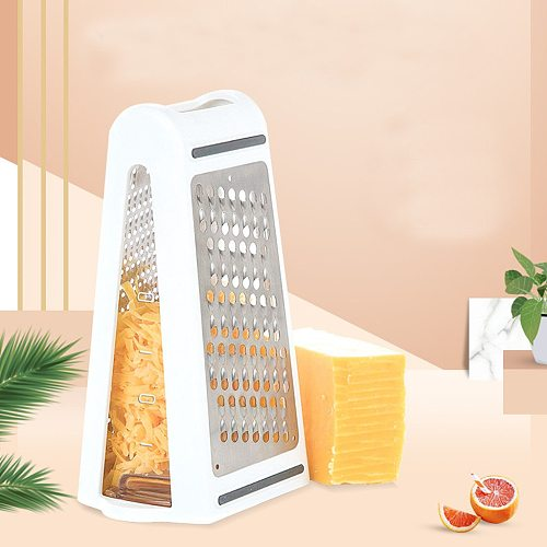 Box Cheese Grater - 2-Sided Stainless Steel Cutter and Shredder for Cheeses Kitchen Multifunction Tool Grater Accessories