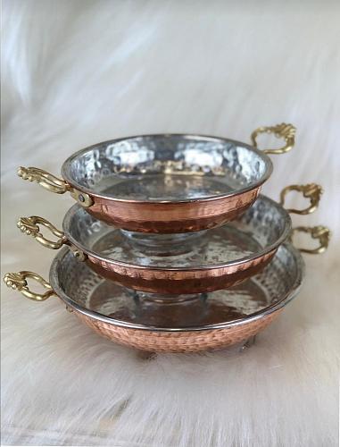 Copper Sahan Set of 3 BAKIRTAVA