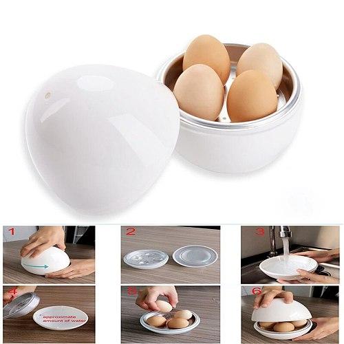 Egg Pod - Microwave Egg Boiler Cooker Egg Steamer Perfectly Cooks Eggs and Detaches the Shell