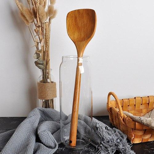 High Quality Utensils Long Wooden Shovel Cooking Rice Spatula Scoop Kitchen Utensil Non-stick Hand Wok Shovel Kitchen Tools