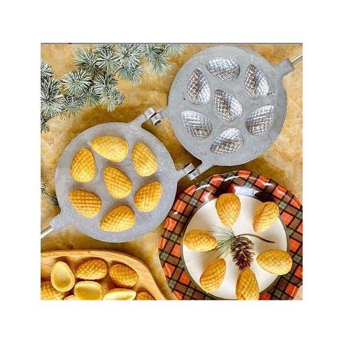 Pine Cone Cookie Mold Casting Granite Pan Baking Oreshki Cookie Tools Baking Accessories Biscuit Cone Cookies Oreshnitsa Cone