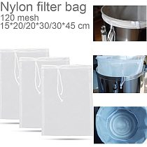 Nylon Reusable Food Strainer Bag Fine Mesh Food Grade Soy milk Filter for Milk Coffee Home Brewing