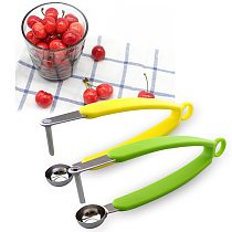 Cherry Olive Pits Pitter Stone Seed Remover Machine Container Kitchen Tool Fruit Remover Core Squeeze Tool