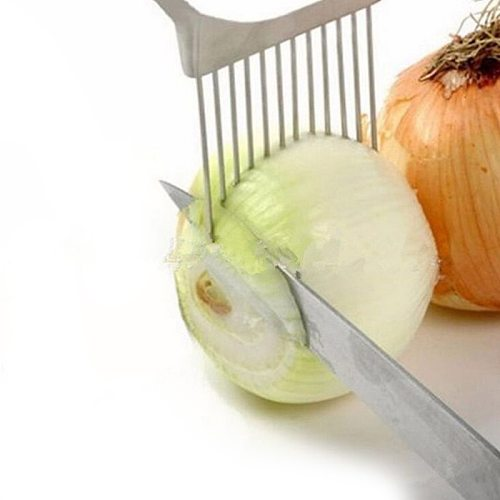 1PC Shrendders Slicers Tomato Onion Vegetables Slicer Cutting Aid Holder Guide Slicing Cutter Safe Fork Kitchen Cooking Tools