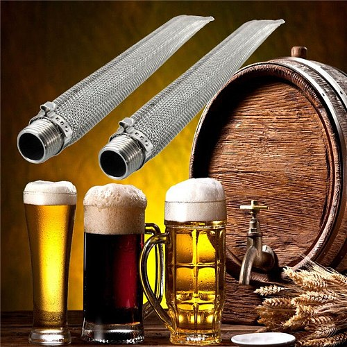 12 inch 30cm Stainless Steel Beer Wine Making Tools Bazooka Screen 1/2'' NPT For Homebrew Beer Kettle or Mash Tun/mesh Filter