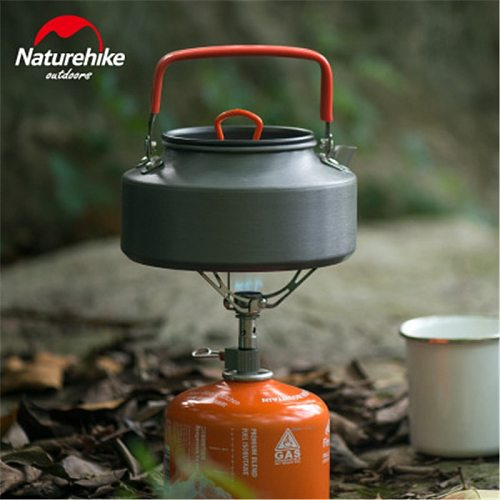 Naturehike Outdoor Camping Cookware 1.1L 1.6L Portable Water Kettle Camping Picnic Tableware Equipment Hard Alumina Kettle