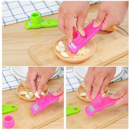 1pc Multi-functional Creative Garlic Grinder Manual Tool Microplaner Garlic Cutter Practical Grinder Ginger Kitchen Small Tools