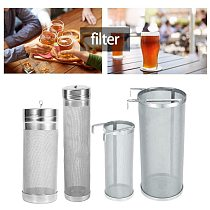Stainless Steel Brew Beer Hop Mesh Filter Strainer with Hook Beer Brewing equipment inline filter distillation washable for bags