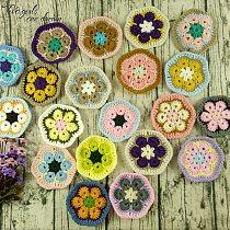 Original 11cm Hand Crochet Doilies Pad Handmade Flowers Cup Mat Photo Props Decorative Placemat DIY Clothes Accessory 30pcs/lot